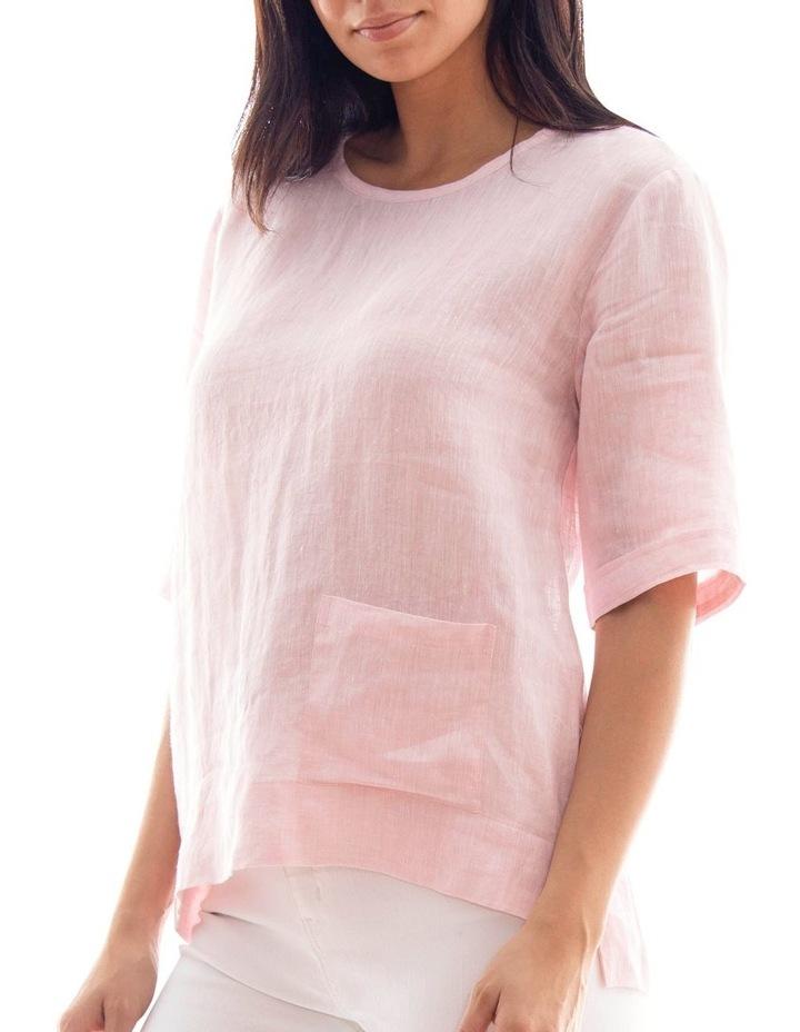 1/2 Sleeve Pocket Linen Top image 2