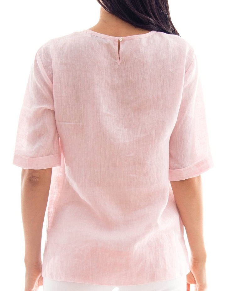 1/2 Sleeve Pocket Linen Top image 3
