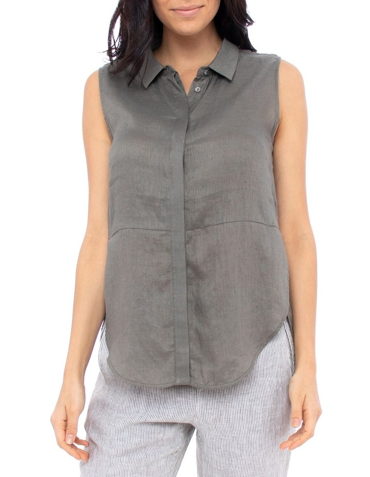Sleeve-Less Concealed Placket Top image 1