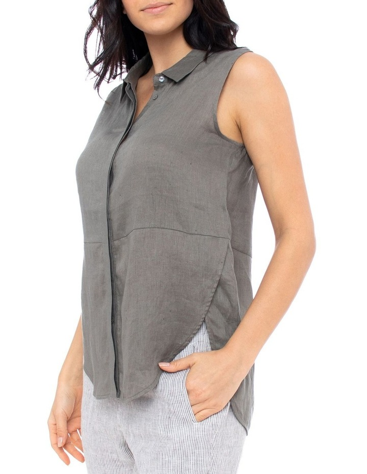 Sleeve-Less Concealed Placket Top image 2