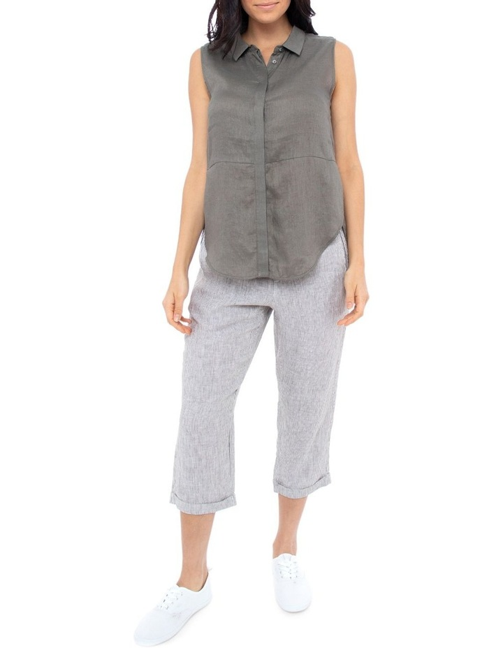 Sleeve-Less Concealed Placket Top image 3