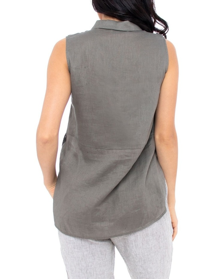 Sleeve-Less Concealed Placket Top image 4