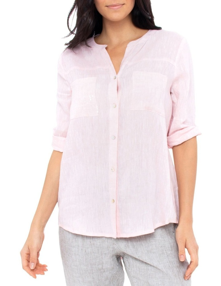 Sequin Pocket Linen Shirt image 1