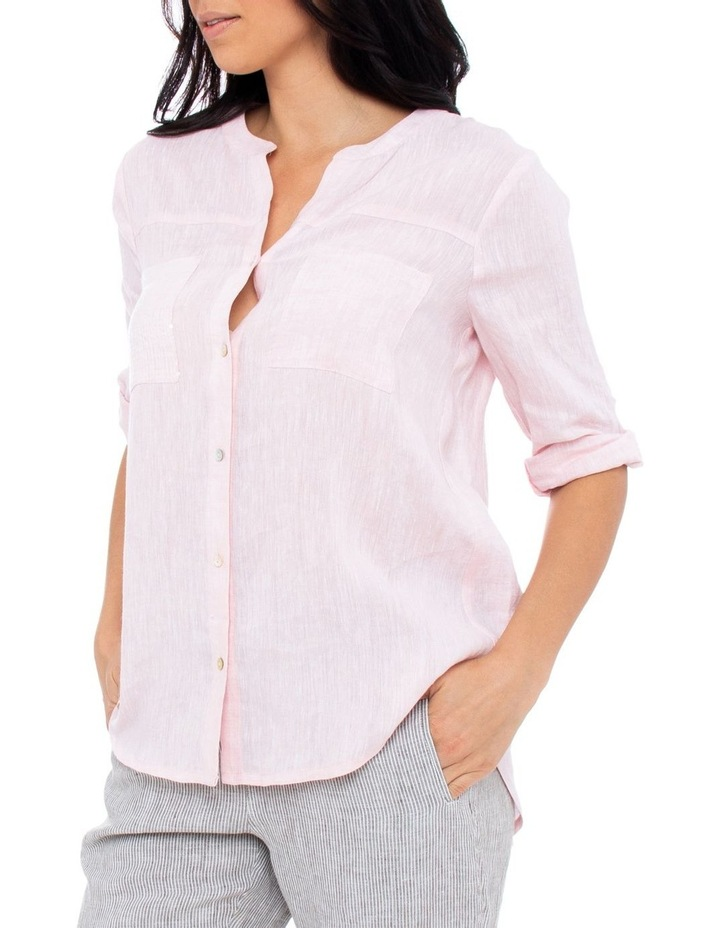 Sequin Pocket Linen Shirt image 2