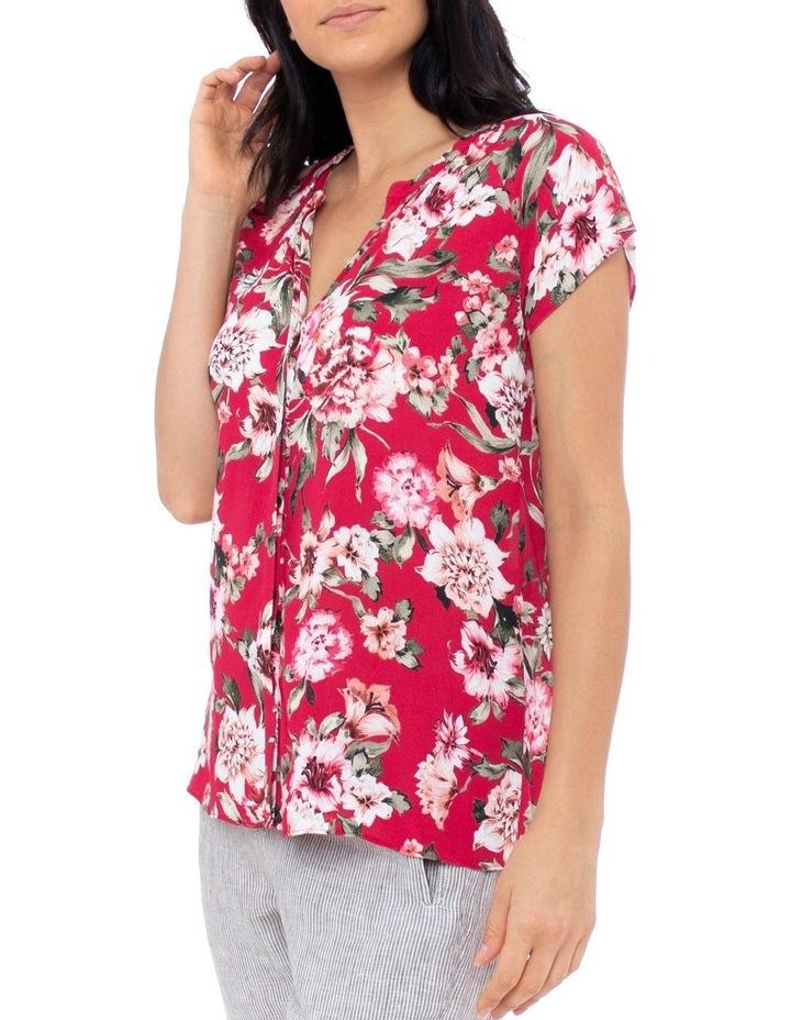 Short Sleeve Pop Floral Top image 2