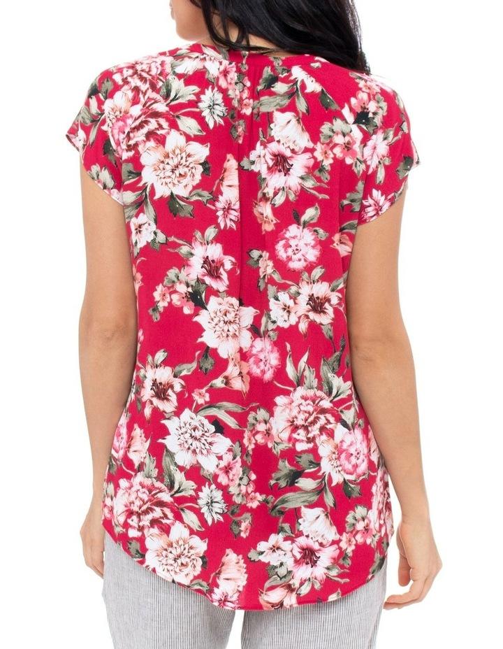 Short Sleeve Pop Floral Top image 3