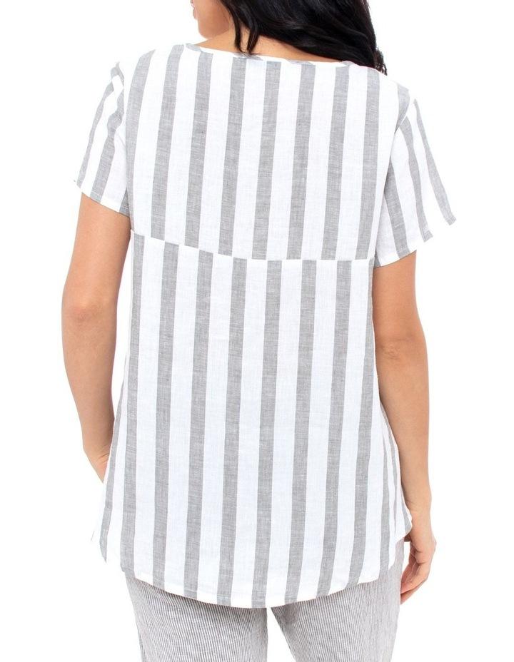 Short Sleeve Stripe Swing Top image 3