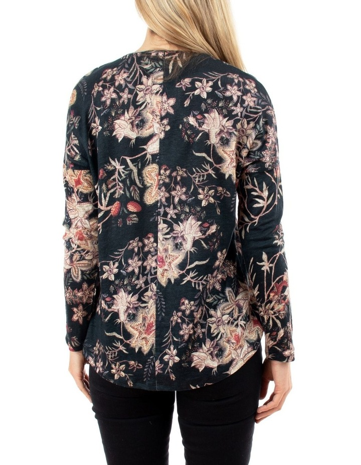 Tapestry Floral Long Sleeve Linen Top image 3
