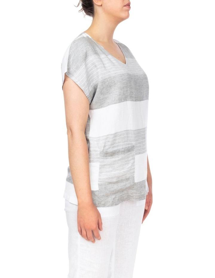 Block Stripe Linen Top image 3