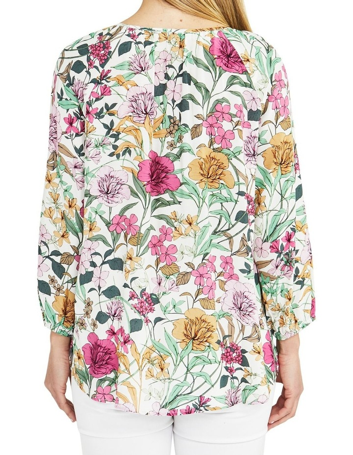 Spring Floral Long Sleeve Top Cream image 2