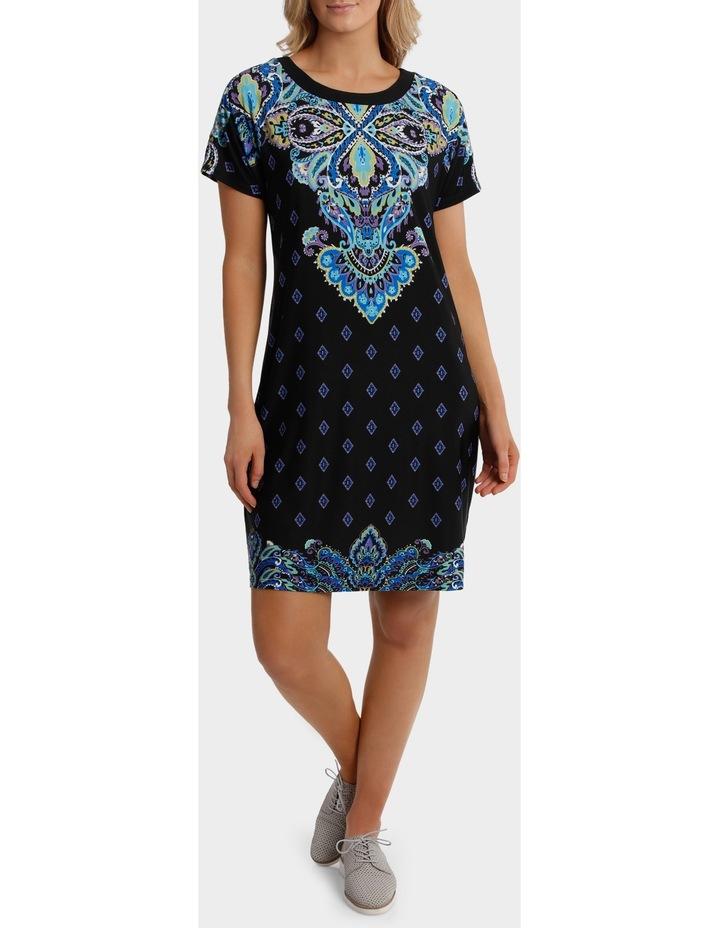 Split Shoulder Jersey Dress image 1
