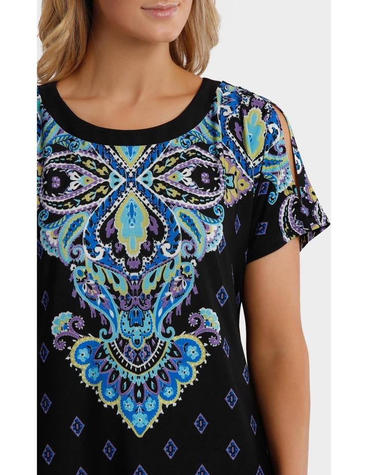 Split Shoulder Jersey Dress image 4