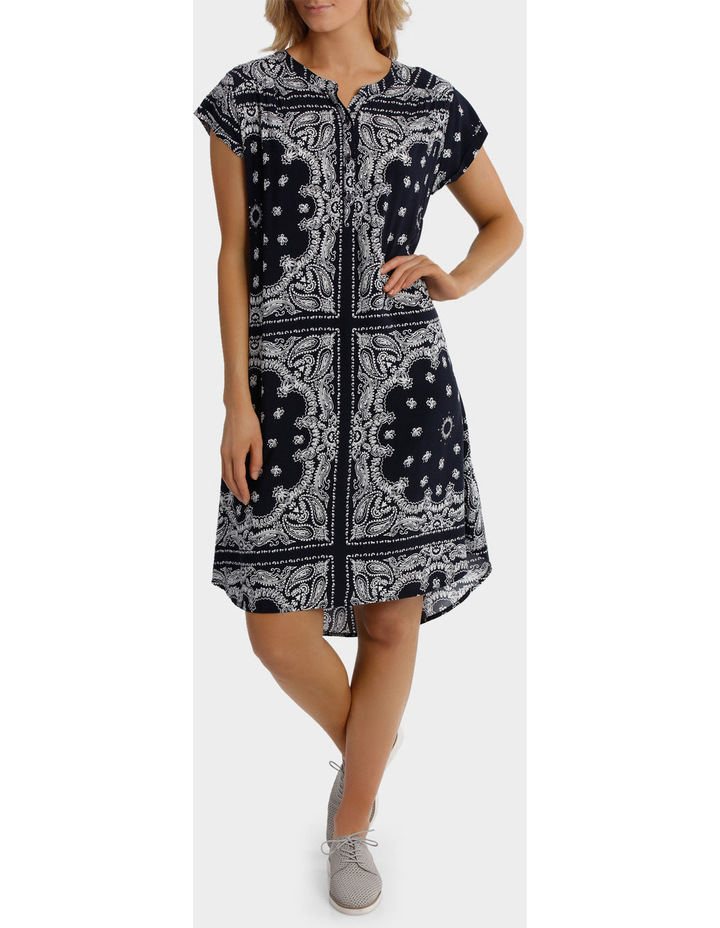 Short Sleeve Paisley Dress image 1