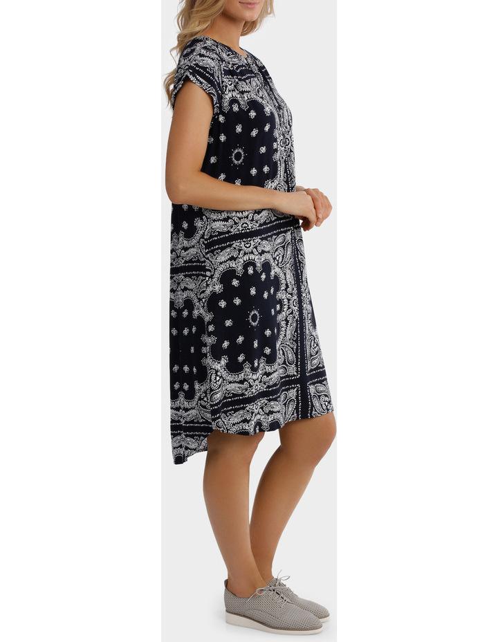 Short Sleeve Paisley Dress image 2