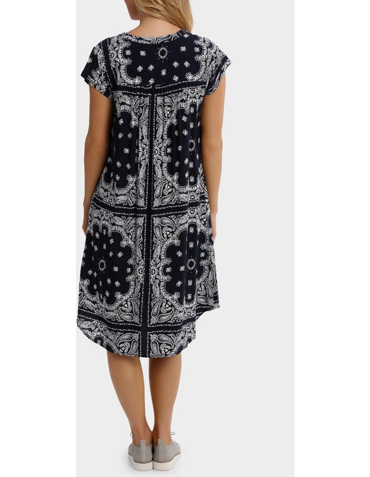 Short Sleeve Paisley Dress image 3