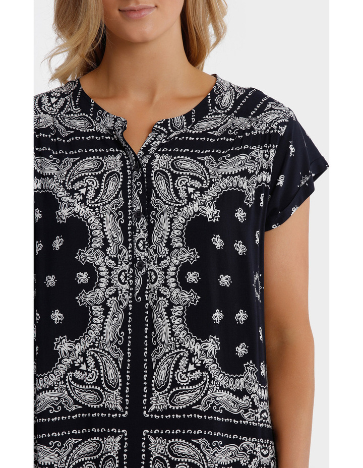 Short Sleeve Paisley Dress image 4