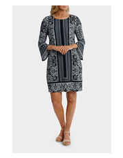 Jump - Flounce Sleeve Jersey Dress