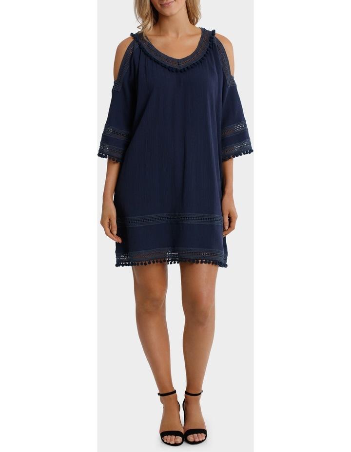 Split Shoulder Pom Pom Dress image 1