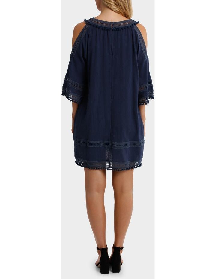 Split Shoulder Pom Pom Dress image 3