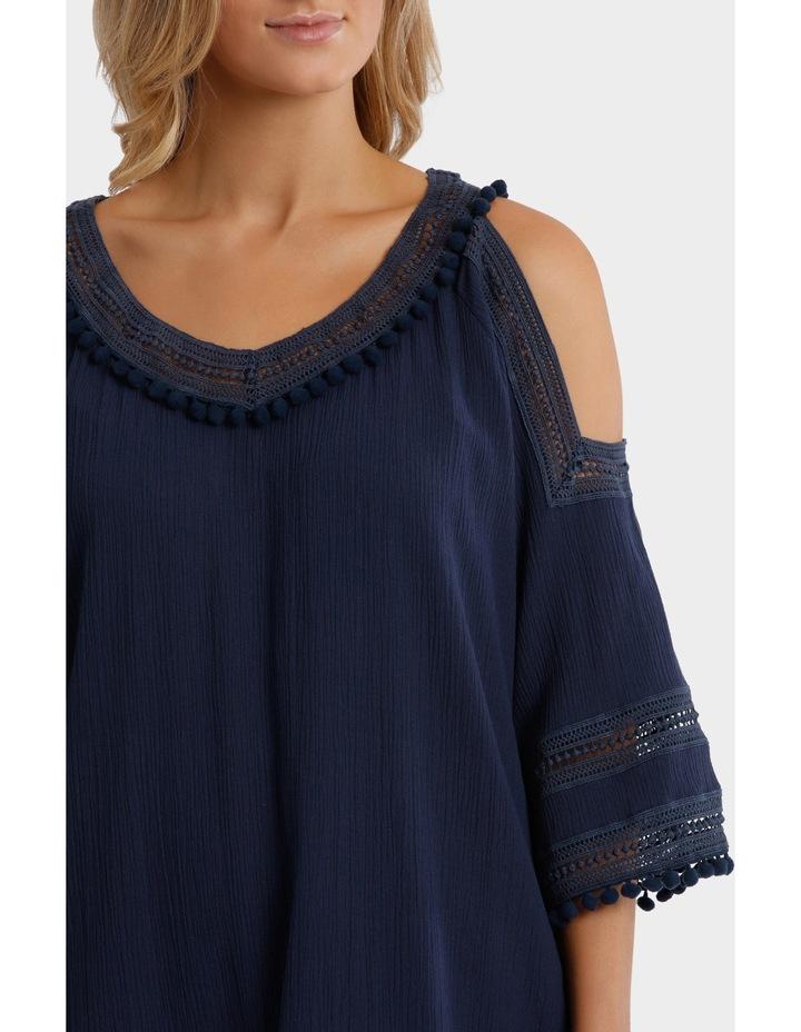 Split Shoulder Pom Pom Dress image 4
