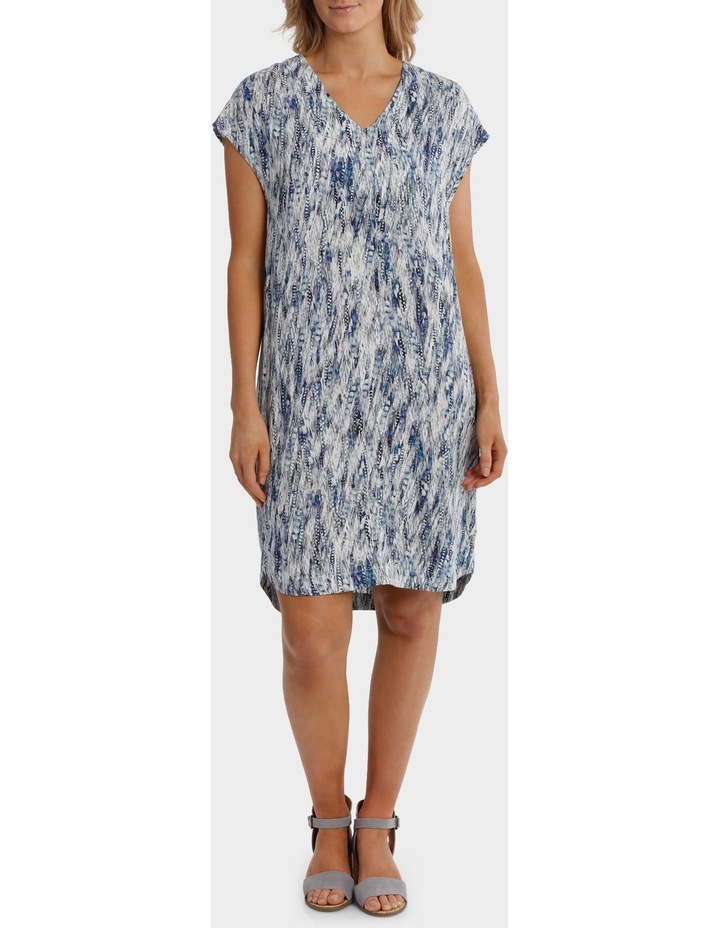 Ext Shoulder Sea Print Dress image 1