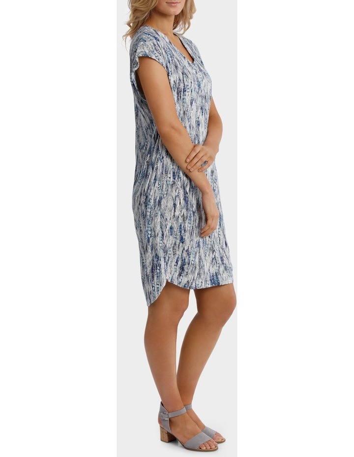 Ext Shoulder Sea Print Dress image 2
