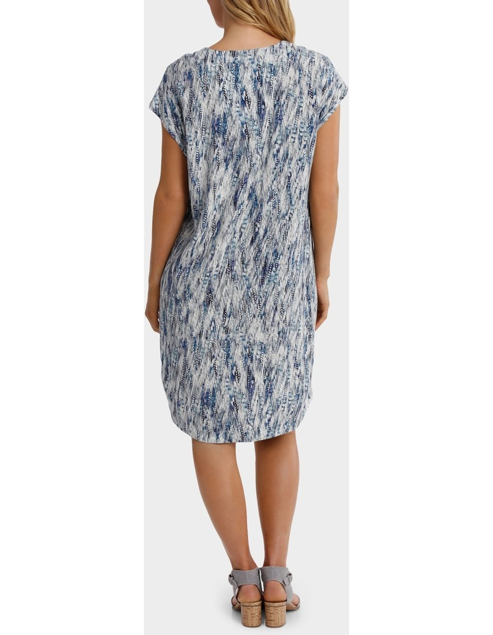 Ext Shoulder Sea Print Dress image 3