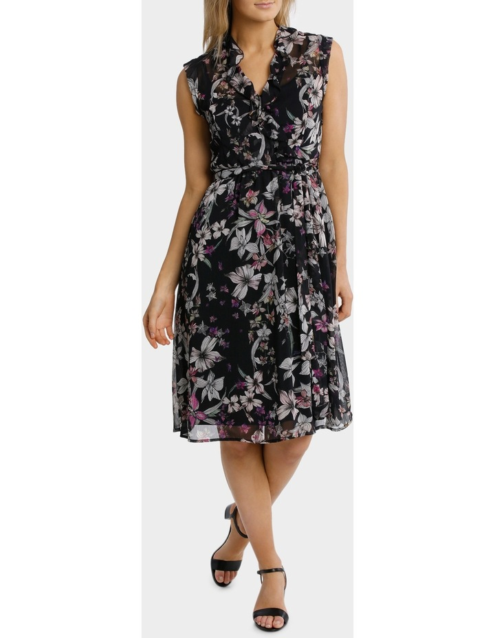 Magic Floral Ruffle Trim Dress image 2