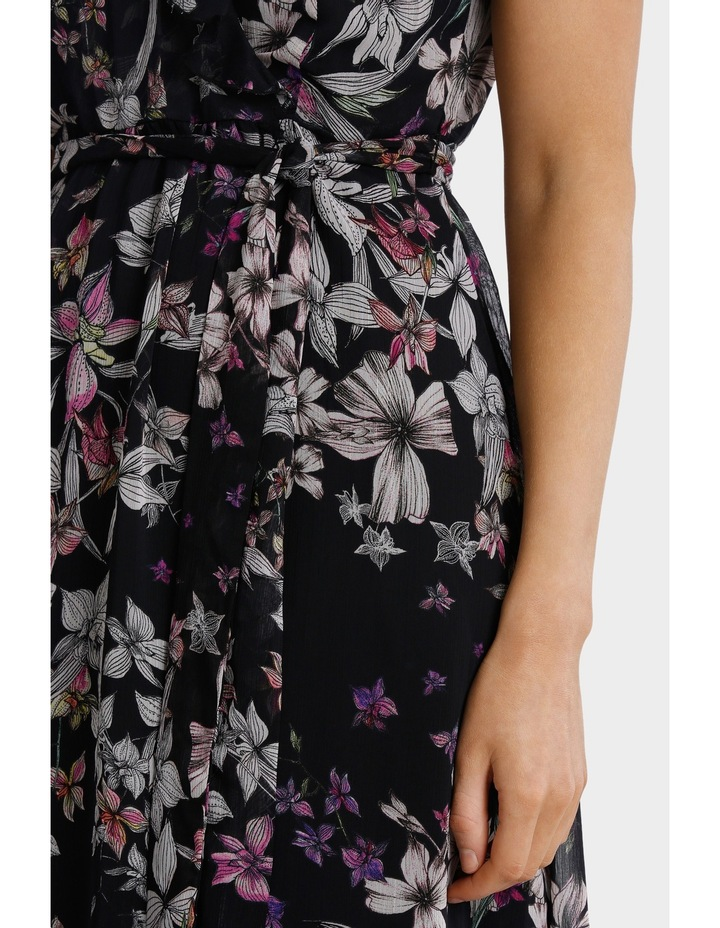 Magic Floral Ruffle Trim Dress image 4