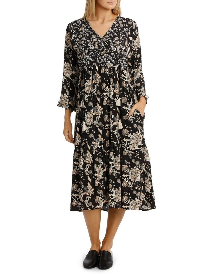 Printed Dress with Tassels image 1