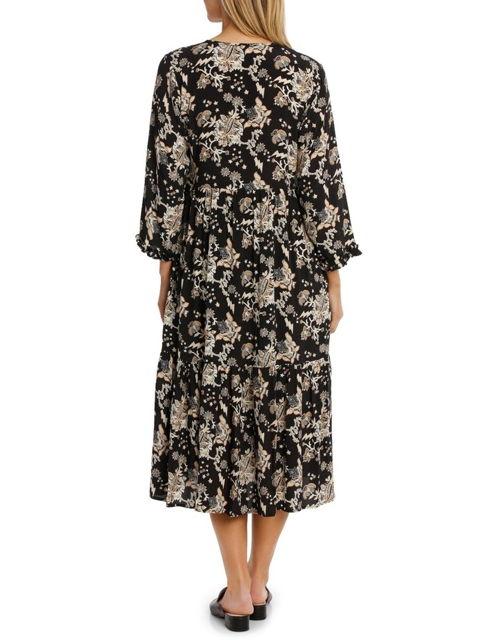 Printed Dress with Tassels image 3
