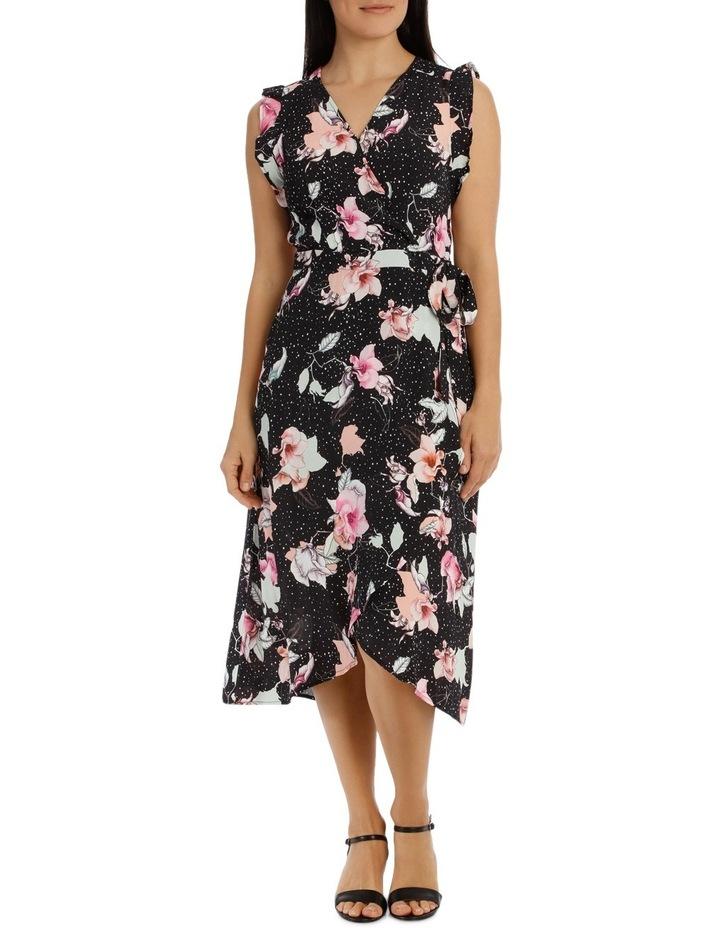 Ruffle Sleeve Tie Waist Floral Dress image 1