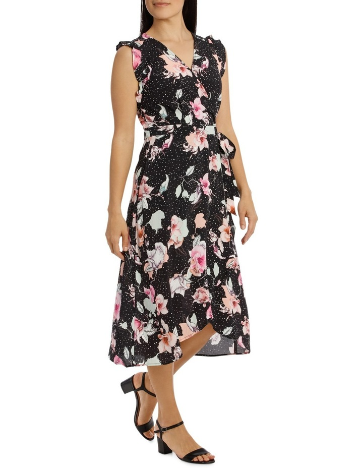 Ruffle Sleeve Tie Waist Floral Dress image 2