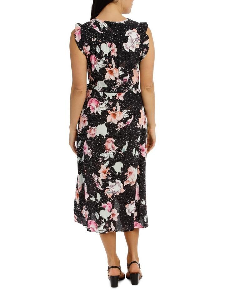 Ruffle Sleeve Tie Waist Floral Dress image 3