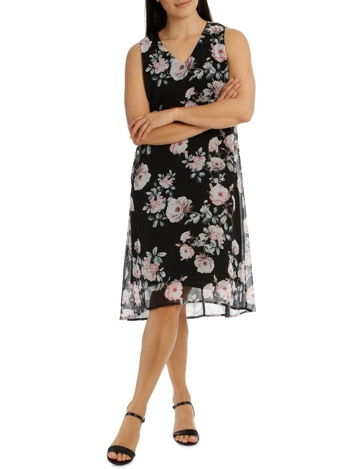 Sleeveless Hi/Lo Rose Print Dress image 1