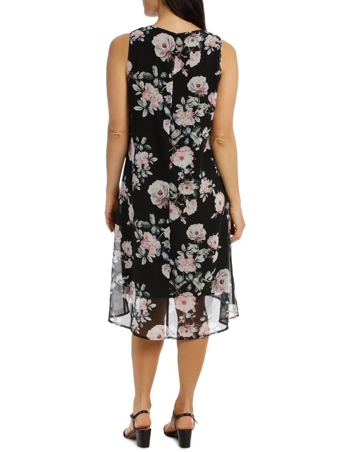 Sleeveless Hi/Lo Rose Print Dress image 3