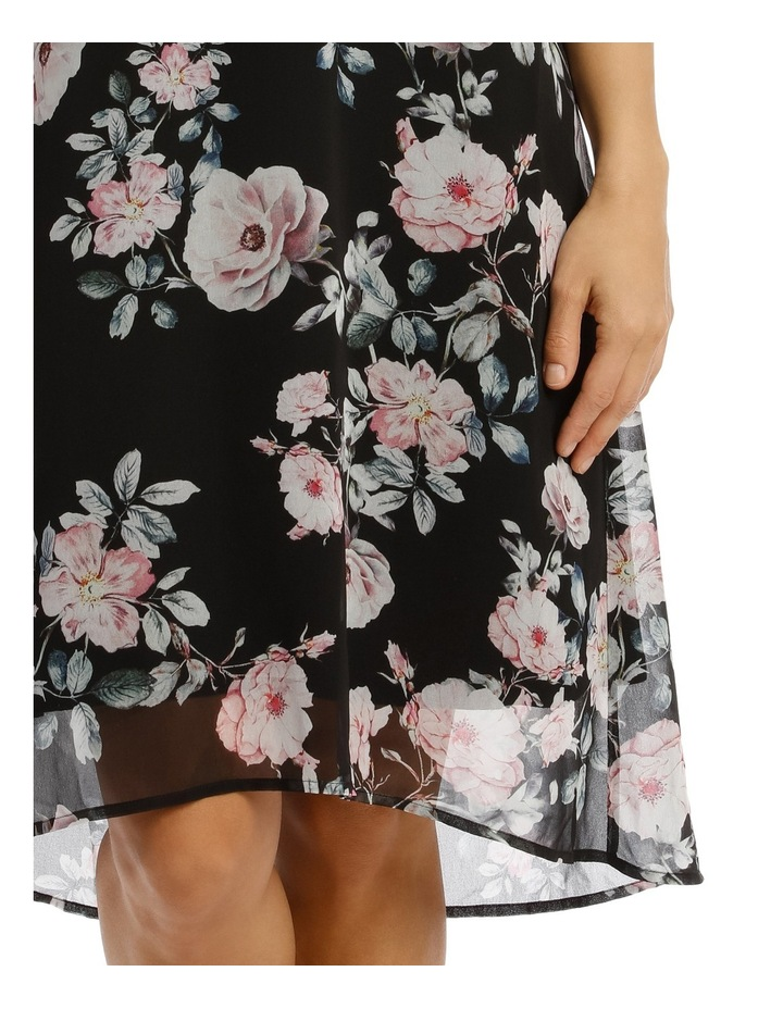 Sleeveless Hi/Lo Rose Print Dress image 4