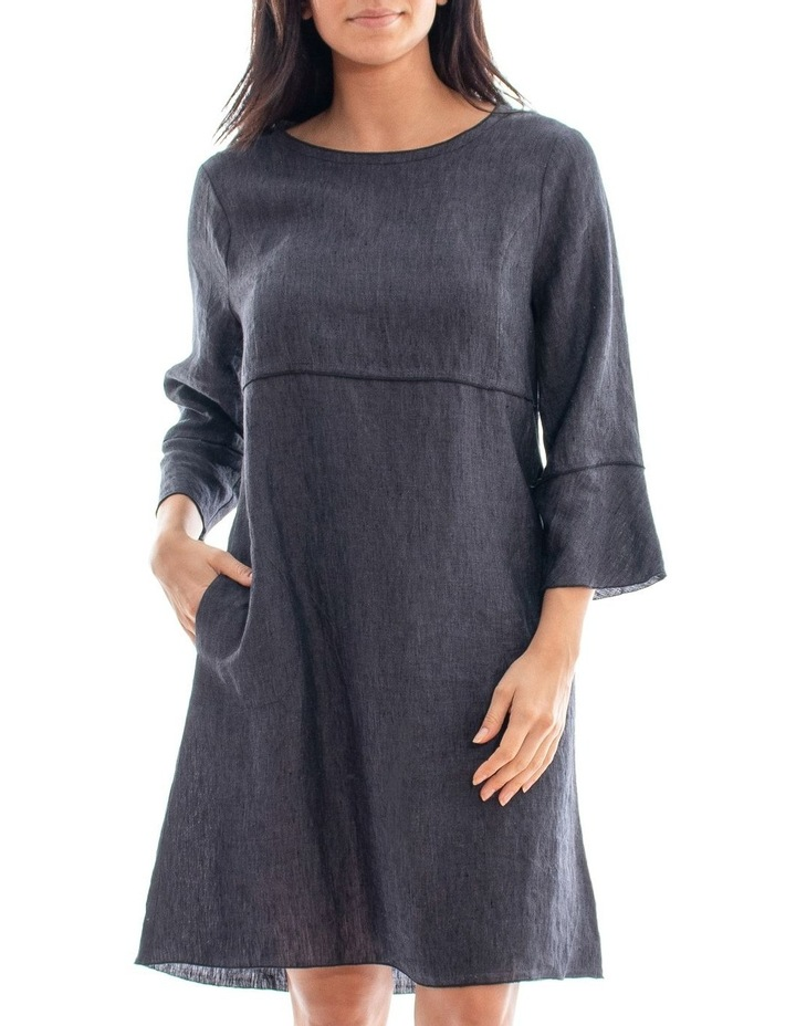 Long Sleeve Linen Dress image 1