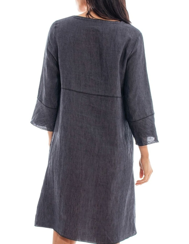 Long Sleeve Linen Dress image 3