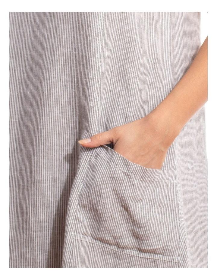 Sleeveless Stripe Linen Dress image 3