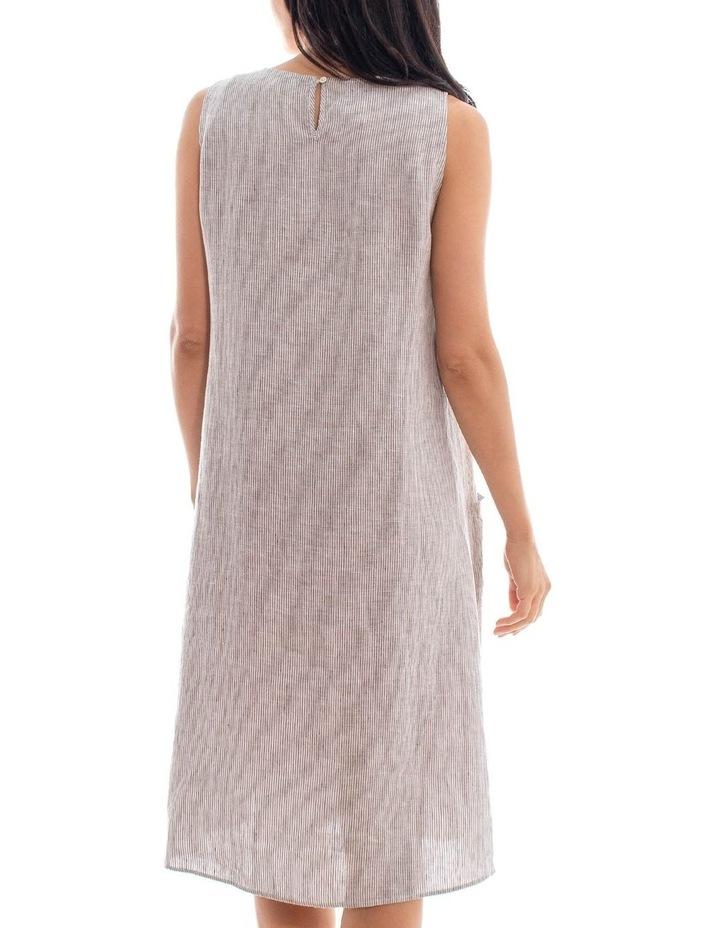 Sleeveless Stripe Linen Dress image 4