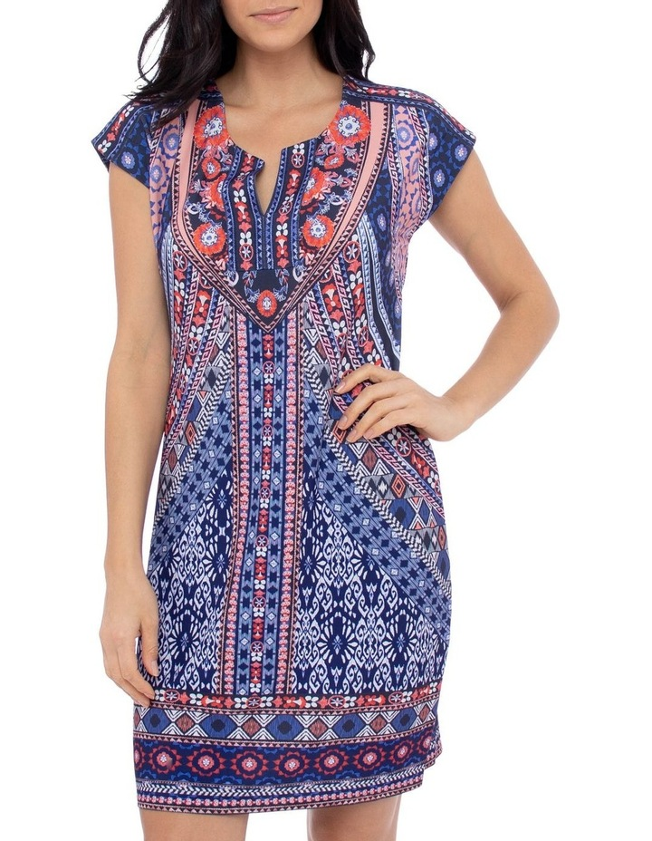 Mosaic Print Jersey Dress image 1