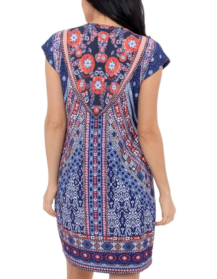 Mosaic Print Jersey Dress image 3