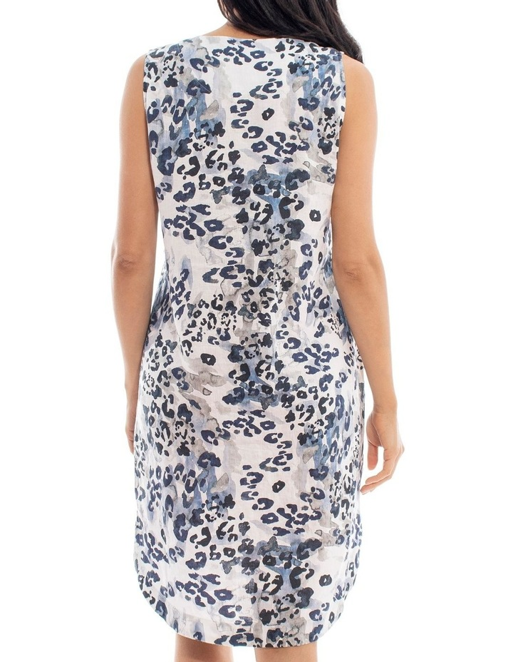 Sleeveless Animal Print Linen Dress image 4