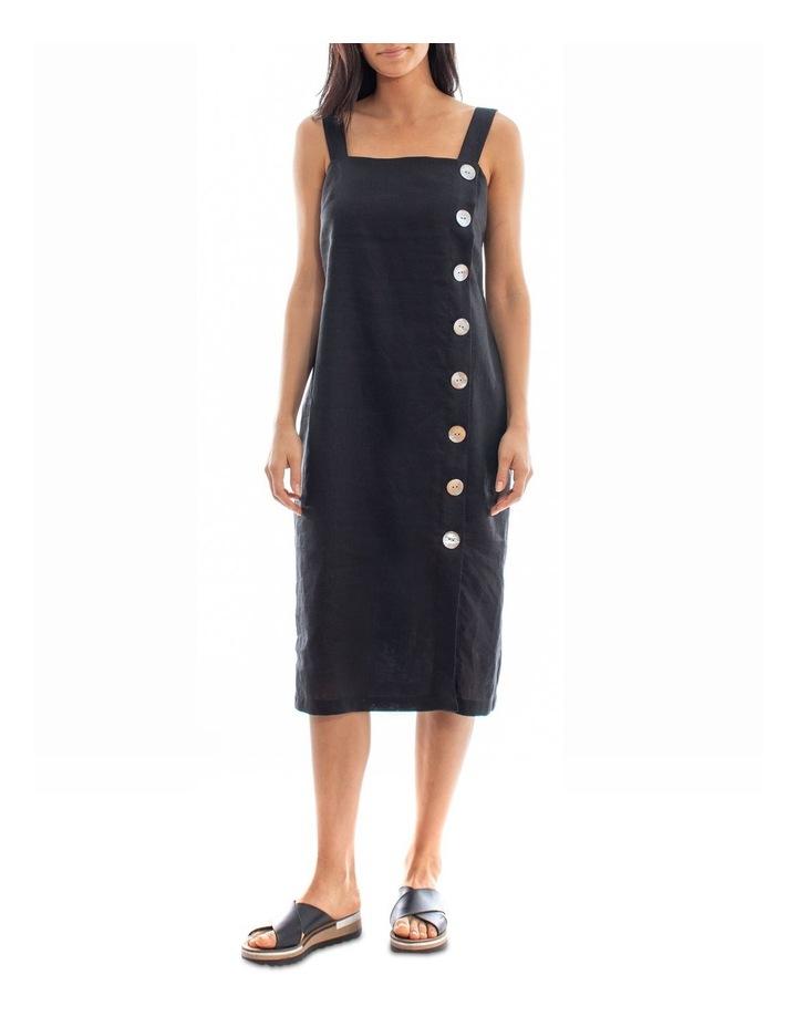 Side Button Linen Dress image 1