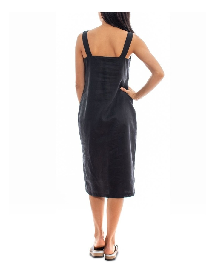 Side Button Linen Dress image 2