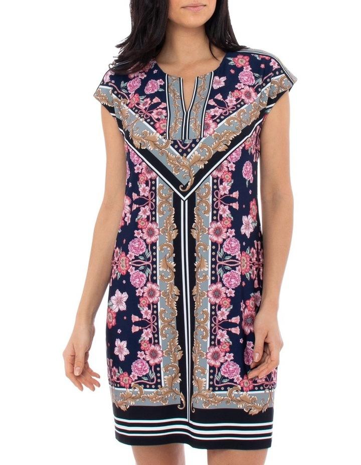 Scarf Print Jersey Dress image 1