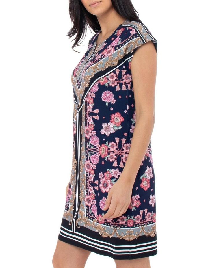 Scarf Print Jersey Dress image 2