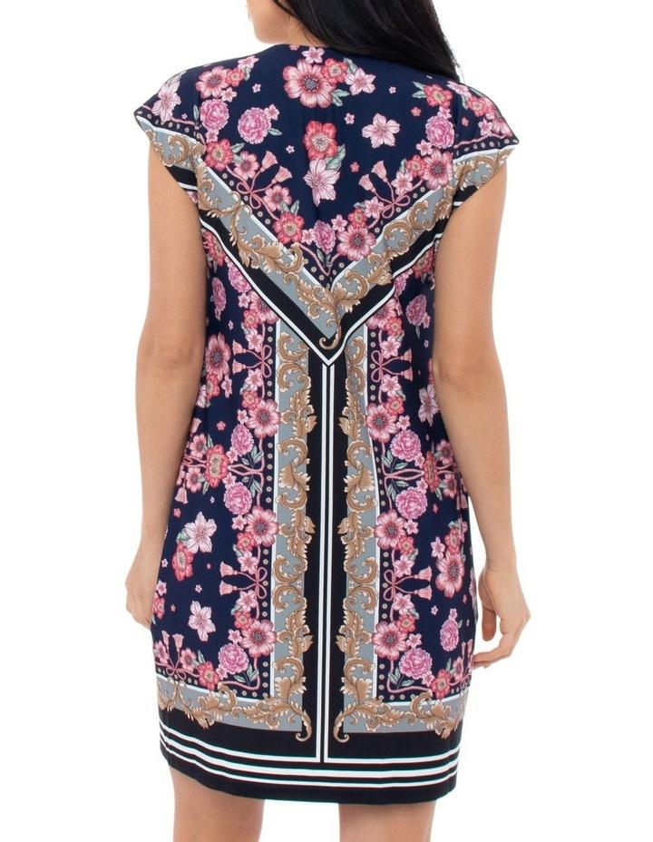 Scarf Print Jersey Dress image 3