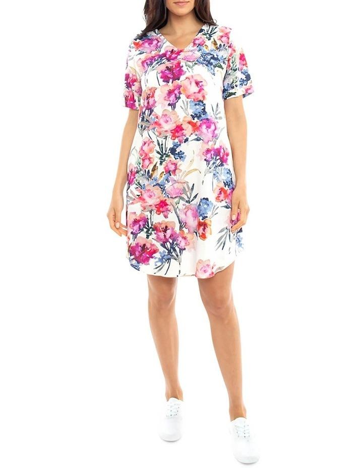 S/Slv Floral Print Dress image 1